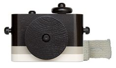 Special Collection - Black & White Striped Wooden Toy Camera