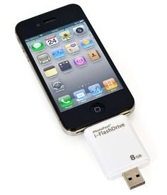 HyperDrive iFlashDrive: Transforms iPhone, iPod, or iPad into an external memory drive without wires and without having to go through iTunes. It's also a flash drive for having extra memory handy. Gadgets And Gizmos, Electronics Gadgets, Tech Gadgets, Cool Gadgets, Newest Gadgets, Cool Technology, Technology Gadgets, Ipad Mini, Ipod