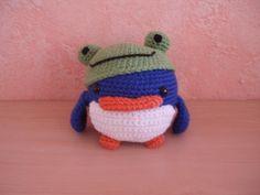 Pinguin met kikkerhoed