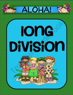 Long Division Activity- Aloha Themed product from Ms-Third-Grade on TeachersNotebook.com