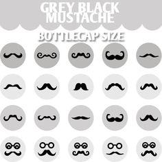 Mustache bottle cap images
