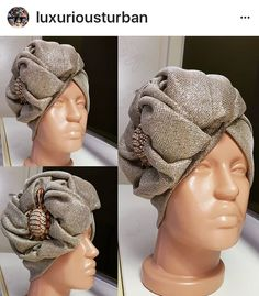 Mode Turban, Turban Hat, Turban Style, Scarf Hat, African Hair Wrap, African Head Wraps, Fascinator Hats, Fascinators, Headpiece