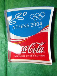 ATHENS 2004 OLYMPIC RINGS COCA-COLA MAGNET GREECE TRAVEL SOUVENIR