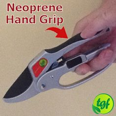 "#3 In ""Features and Benefits"" The Neoprene Hand Grip. This is made of one piece which attaches to the top part of the pruner handles. It is soft and cushions the impact of the pruners on the hands. I love this feature as it makes them both easy to grip and easy on the hands."