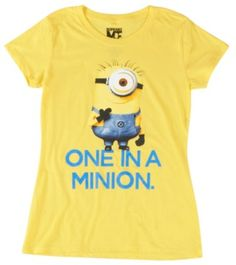 Short sleeve T-Shirt with Despicable Me character screenprint on the front.