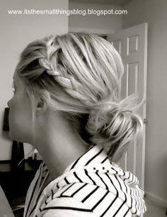 loose braid and bun