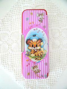 Vintage FLOMO Forest Little Tiger cil case