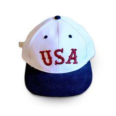 USA strapback - White / Navy