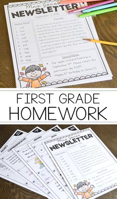 First Grade Homework For the Entire Year - TGIF! - Thank God It's First Grade!   http://thankgoditsfirstgrade.blogspot.com/2016/06/first-grade-homework-for-entire-year.html
