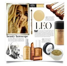 """""""Z For Zodiac: Hear Her Roar: Leo"""" by leoll ❤ liked on Polyvore featuring beauty, Revlon, Captain Blankenship, Anastasia Beverly Hills, MAC Cosmetics, Lipstick Queen and Butter London"""