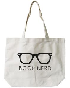Glasses Book Nerd Canvas Bag