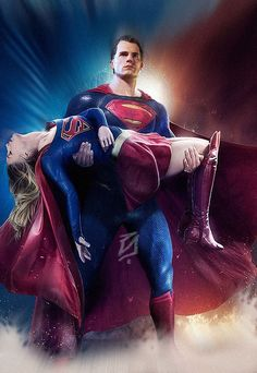 Henry Cavill as Superman and Melissa Benoist as Supergirl Supergirl Superman, Supergirl And Flash, Justice League, Melissa Supergirl, Kara Danvers Supergirl, Univers Dc, Arte Dc Comics, Dc Comics Characters, Movie Characters
