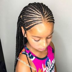 35 Natural Hairstyles for Black Girls Hair Style Girl black girl braided hair styles Little Girl Braids, Black Girl Braids, Braids For Kids, Girls Braids, Little Girl Braid Styles, Braids For Black Kids, Cornrows For Girls, Kid Braids, Braids Easy