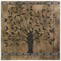 this would be so cool, over our couch! if i bought a metal tree and boiught the wood & stained it!