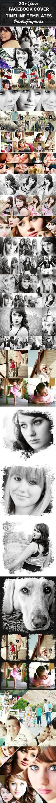 23 Free Facebook Cover Photoshop Templates & Timeline Photo Collage Templates for Photographers