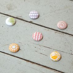 fabric-wrapped magnets $8 {see jane work}