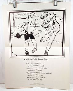 Vintage School Poster  1930s Children's Safety by vintagegoodness, $15.95