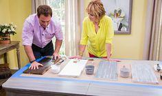Mark and Cristina's DIY Faux Tabletop Finish - ***** Video & written instructions. JCN