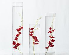 Submersible Pink/Light Pink/Red Yellow Star Flower Floral Wedding Centerpiece with Floating Candles and Acrylic Crystals Kit Kit Terrarium, Terrarium Centerpiece, Terrarium Wedding, Silk Flower Centerpieces, Floating Candle Centerpieces, Wedding Table Centerpieces, Quinceanera Centerpieces, Water Candle, Poinsettia