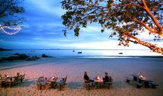 Andalanta resort restaurant, Koh Lanta, Thailand. Landscape Pictures, Thailand, Restaurant, Celestial, Sunset, Beach, Water, Places, Wedding