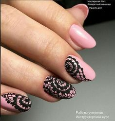 Cute Nail Art Collection That You Will Love Pretty Nails, Gorgeous Nails, Mandala Nails, Lace Nails, Manicure E Pedicure, Stamping Nail Art, Stylish Nails, Simple Nails, Diy Nails