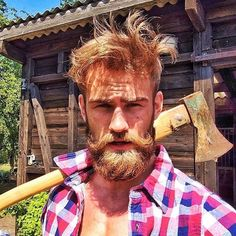 Really. Do we think that any man who looks like this can actually wield an ax?