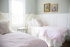 beautiful girl bedrooms, love the way she has displayed the photography, love the vases and large scale items