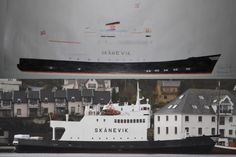 drawing of the old veteran ferry Skånevik. See more pictures on my website!