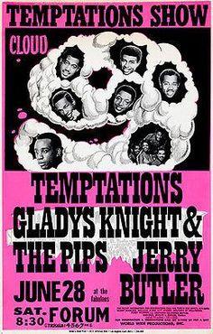 TEMPTATIONS 1965 PRINT POSTER SIZE MOTOWN OLDIES POP SOUL MUSIC