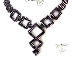 Beading pattern  Geometry Necklace in  English   por EnvyBeadwork