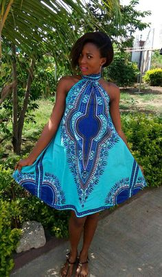 Dashiki dress ankara dress African print dress Summer by DashikiMe