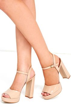 a752bb26cd13 Let the Steve Madden Kierra Blush Patent Leather Platform Heels take your  look up a level