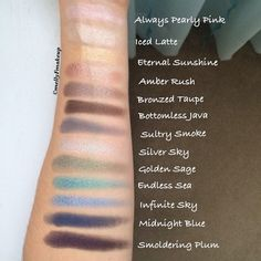 L'Oreal Infallible 24HR Eyeshadows. Follow my instagram @mellyfmakeup for more!