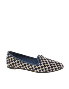 ASOS LEON Slipper Shoes with Heart Print