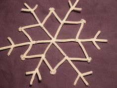 Pipe cleaner snowflake ornaments pipe cleaners pipes and snowflake