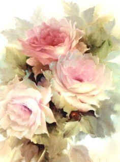 Vintage art flowers