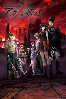 Alt Titles Eng: Akame ga Kill! Syn: Akame ga Kiru! Japanese: アカメが斬る!  Info Type: TV Ep: 24 Status: Finished Airing Aired: Jul 7, 2014 to Dec 15, 2014 Producers: Square Enix, White Fox, Sentai FilmworksL, TOHO animation Genres: Action, Adventure, Fantasy Duration: 23 min. per episode Rating: R - 17+ (violence & profanity)   Stats Score: 7.911 (scored by 132538 users) Ranked: #6452 Popularity: #53 Members: 234,381 Favorites: 4,147