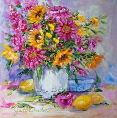 Shabby Chic Original Painting FLORAL ART by JBeaudetStudios, $67.00