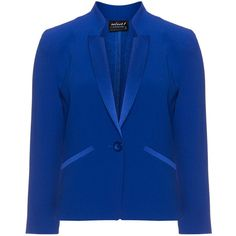 Hermann Lange Blue Plus Size Satin-trimmed tuxedo jacket ($220) ❤ liked on Polyvore featuring outerwear, jackets, blue, plus size, flower print jacket, tuxedo jacket, plus size boyfriend jacket, floral jacket y womens plus size jackets