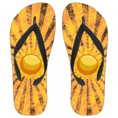 Rising Summer Sun Kids Flip-Flops