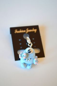 www.ivankaslittletreasures.com $9.99 #ivankaslittletreasures #Handmade #Polymerclay #Pendant #Jewelry #Blue #Monster #Tentacle