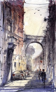 Tony Belobrajdic   WATERCOLOR        Rome