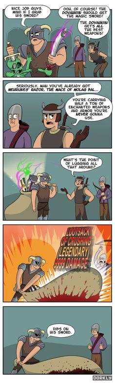 Skyrim comic Is this why you walk so slow?