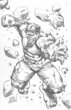 Hulk smash drawing.