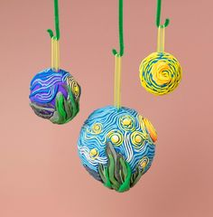 Starry Night Ornaments lesson plan ~ a different way of showing our work about Vincent Van Gogh when we do this unit again in the Summer term.