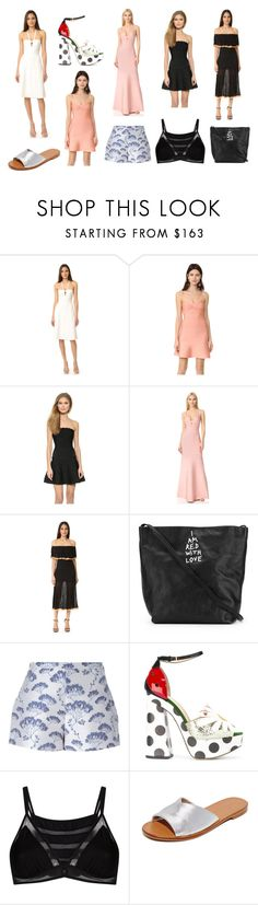 """""""Fashion Show Dresses"""" by donna-wang1 ❤ liked on Polyvore featuring Hervé Léger, Ann Demeulemeester, Giambattista Valli, Charlotte Olympia, Giuliana Romanno, Diane Von Furstenberg and vintage"""