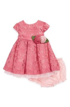 Pippa & Julie Lace Dress & Bloomers (Baby Girls) available at #Nordstrom