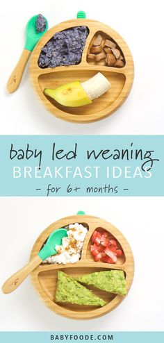 baby food recipes 6 months These baby led weaning breakfast ideas are a fun and yummy way for baby and toddler to start the day! Featuring 6 recipes filled with fruits, vegetables, and whole grains that are great for babies 6 months and up. Baby Led Weaning Breakfast, Baby Led Weaning First Foods, Baby Breakfast, Blw Breakfast Ideas, Baby Led Weaning Recipes 6 Months, Breakfast Ideas For Toddlers, Cheap Clean Eating, Clean Eating Snacks, Baby Finger Foods