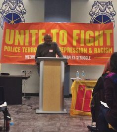 Abayomi Azikiwe Speaks at the International League of Peoples Struggle US Chapter National Conference, Chicago Oct. 22, 2016 (Photo by Danielle Boachie)
