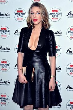 Actress Katherine Ryan ensured all eyes were on her as she put her ample assets on display in sexy leather dress as she was… Katherine Ryan, Sexy Outfits, Black Leather Dresses, Celebrity Beauty, Beautiful Celebrities, Beautiful Women, Bodycon Dress, Celebs, How To Wear